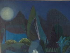 Moonlit garden, 1963 | Paintings